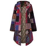 Veste Femme Femmes À Capuche À Manches Longues Vintage Dames Polaire Épaissir Manteaux Bouton Long Manteau Automne Hiver...