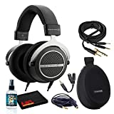 Beyerdynamic Amiron Home High-End Tesla Open Stereo Headphones Bundle with 6AVE Headphone Cleaning Kit with Cleaning Solution and More