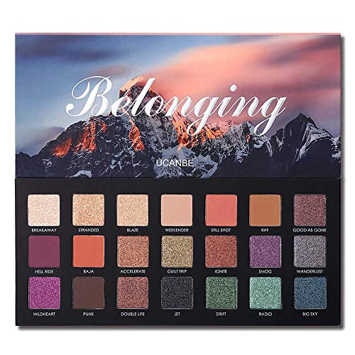 UCANBE 21 Farben Shimmer Matte Lidschatten-Make-up-Palette Glitter Langlebiges Pigment Lidschatten...