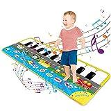 Magicfun Tappeto Musicale per Bambini, Tappetino da Ballo per Pianoforte Tappeto da Gioco Regolabile con 9 Suoni del Veicolo, Giocattoli Educativi Regali per Ragazzi e Ragazze