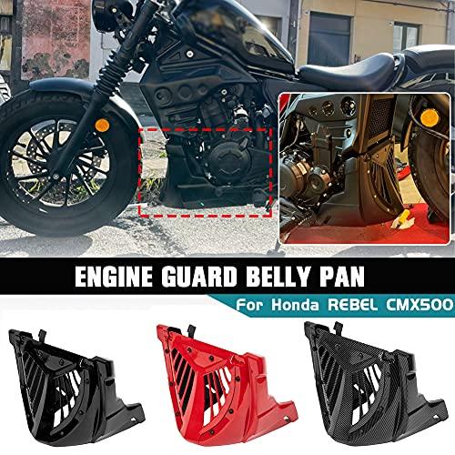 Lorababer Protector de motor de motocicleta Carenado de panza Para Honda Rebel CMX500 CMX 500 2017 2018 2019 2020 2021 panel de marco de carrocería Spoiler de motor inferior Bellypan (Negro)