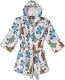 Splish Splash & Me Boys Beach Bath Lizard Hooded Robe Cover Up, Kids Size M(7/8)