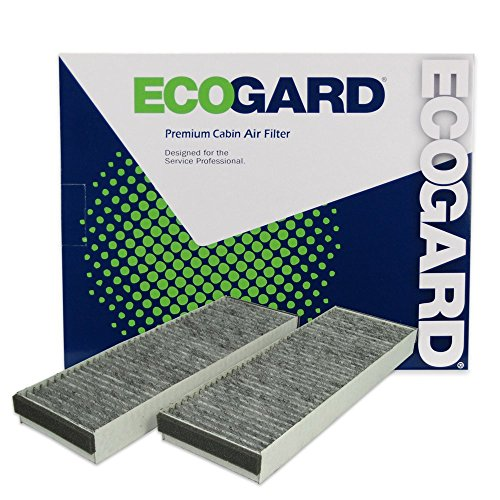 ECOGARD XC25760C Premium Cabin Air Filter with Activated Carbon Odor Eliminator Fits Audi A6 Quattro 2005-2011, R8 2008-2015, A6 2006-2011, S6 2007-2011, S8 2007-2009, RS7 2014