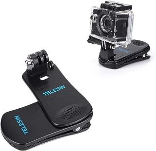 GoPro 360度用Rotate Sportsカメラクリップ、クイッククランプ、帽子バックパック、GoPro Hero用Black Session 6 5 4 2018 3+ 3屋外用アクセサリー (For GoPro Sports Camera Clip)