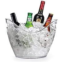 アクリルアイスバケツ飲料バスタブKTVシャンパンバケツ赤ワイン樽スピットバレルアイスバケットバービール樽27 * 19.5 * 20.5 CM (Color : Clear, Size : 27*19.5*20.5CM)