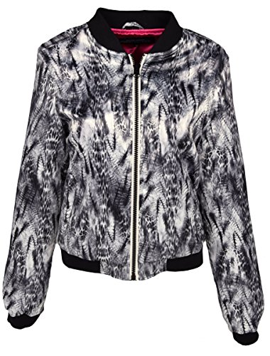 Iwea Exclusive Collection Damen Zip Jacke Sweatshirtjacke Übergangsjacke Snakeskin Design - IW012, XL