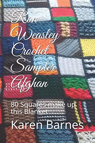 Ron Weasley Crochet Sampler Afghan: 80 Squares make up this Blanket