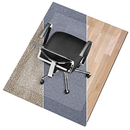 "Office Marshal Polycarbonate Chair Mat for Medium Pile Carpet Floors, 30"" x 48"" - Multiple Sizes - Clear, Studded, Carpet Floor Protection Mat"