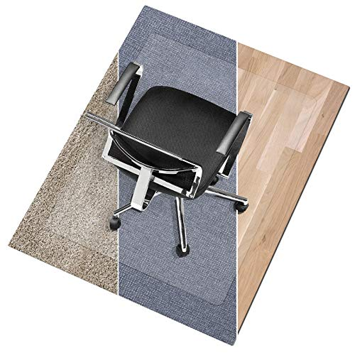 Office Marshal Polycarbonate Chair Mat for Medium Pile Carpet Floors, 36' x 48' - Multiple Sizes - Clear, Studded, Carpet Floor Protection Mat