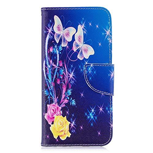 GIMTON Hülle für Huawei P Smart 2019 / Huawei Honor 10 Lite, Schlagfestes PU Handyhülle mit Dünn TPU, Hochwertige Bookstyle Stil Schutzhülle für Huawei P Smart 2019 / Huawei Honor 10 Lite, Muster 3