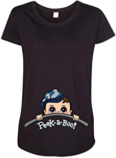 Baby Boy Peek A Boo Cute Maternity DT T-Shirt Tee