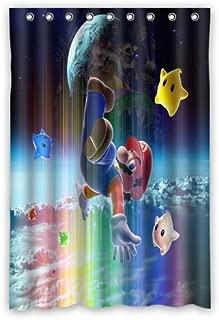 Aloundi Custom Super Mario Galaxy Waterproof Bathroom Shower Curtains/Drape/Panels/Treatment