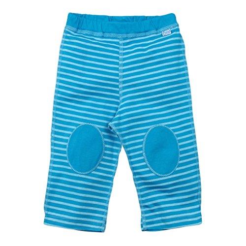 i play. Pantalon de Yoga en Coton Bio Aqua Rayure 6-12 Mois