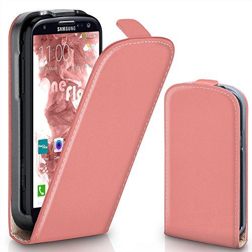 MoEx® Funda abatible + Cierre magnético Compatible con Samsung Galaxy S3 / S3 Neo | Piel sintética, Corail