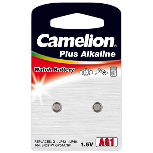 2 Stück Camelion AG1 LR60 LR621 Knopfzelle 1,5V Batterie