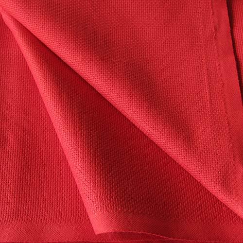 Flor Márquez® - Tela Panamá por Metros, para Punto de Cruz y Bordar. 100% Algodón, Excelente Calidad. Color y Tamaño Seleccionado: (Rojo, 1,50 x 1,00 mt)