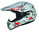 Kids Pro Kinder Crosshelm Weiß Größe: S 55-56cm Kinderhelm Kinder Cross BMX MX Enduro Helm