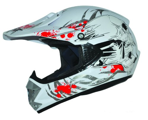 Kids Pro Kinder Crosshelm Weiß Größe: XS 53-54cm Kinderhelm Kinder Cross BMX MX Enduro Helm