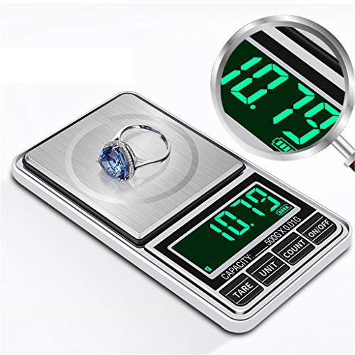 LYA Balance électronique USB Plug -In portable Or Or 0,01 g Palm Balance Balance Ménage, 100g/0.01g+USBcable