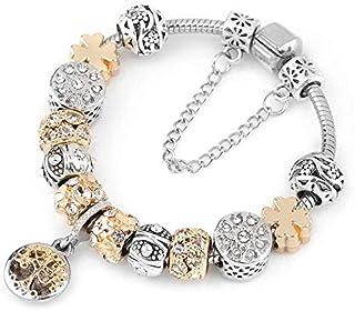 3b87e7475 Aggenix Store Bracelet Gift Charm Bracelet Gold Color Tree of Life Pendant Fits  Pandora Bracelets for