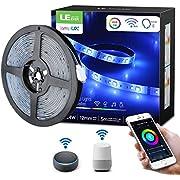 LE Tira de Luz WiFi, Tira LED Música 5M RGBW, 300 LED Impermeable IP65, Control de Voz & APP, Multicolor Regulable, Luz Tira Inteligente Compatible con Alexa, Google Home y IFTTT, No se Requiere Hub