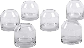 Koyal Wholesale Dome 3 Inch Clear Glass Bud Vases, Bulk Set of 6 Modern Mini Glass Jug Flower Vases, Classic Farmhouse Jug Dome Vases, Minimal Wedding Centerpieces, Terrarriums, Favors, Home Office