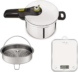 Tefal yy3081fa Olla a presión Secure Neo 5y balanza de Cocina, Acero Inoxidable, Acero Inoxidable, 45x 29x 30cm