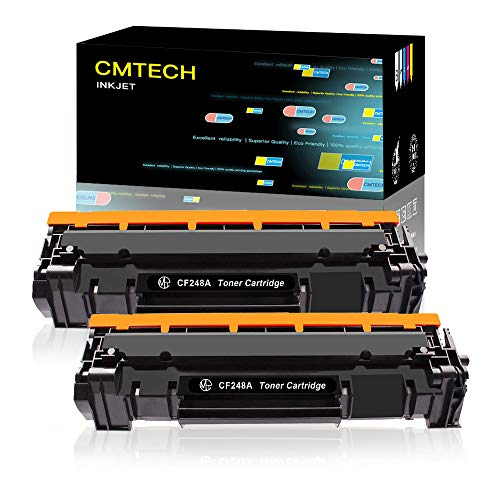 CMTECH Compatible Toner Cartridge Replacement for HP 48A CF248A Work for HP Laserjet Pro MFP M15w M29w M28w M31w M15a M16w M16a M30w M29a M28a M16a Laser Printer (2 Pack Black, with Chip)
