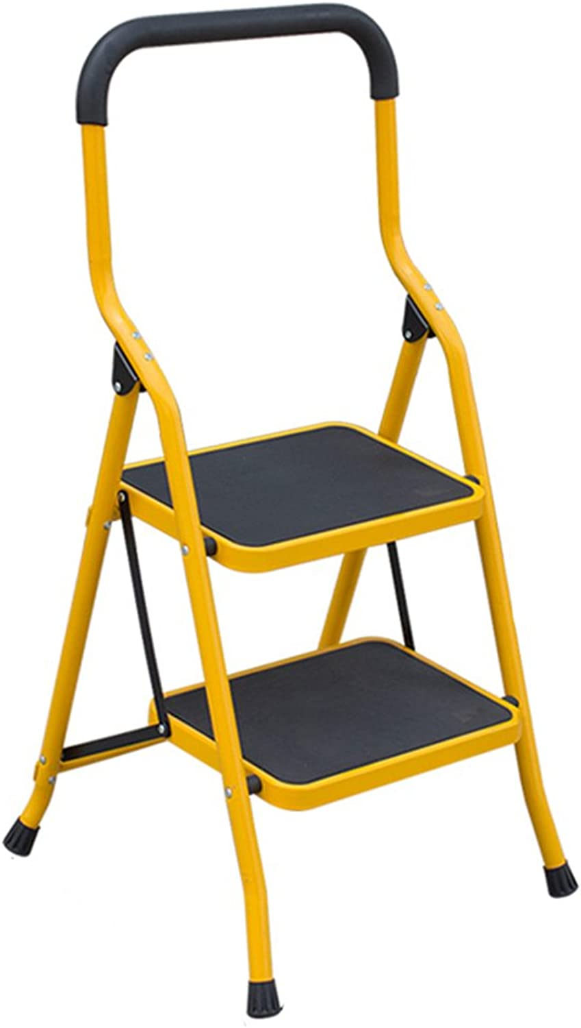 LIYONG Ladder Household Folding Ladder Lift Ladder Thickened Pedal (color   A, Size   2step)