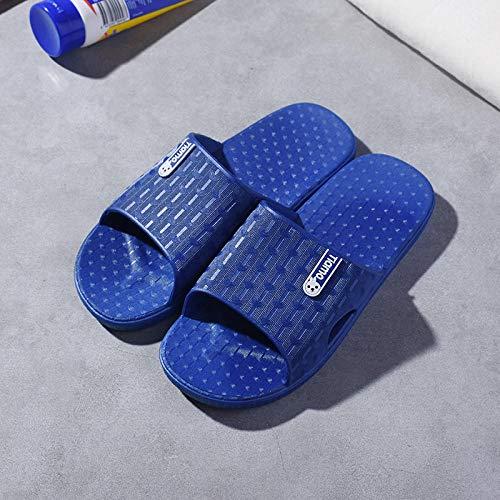 quming Sandalias Ducha Zapatillas Ligeras Antideslizantes,Zapatillas de baño Antideslizantes para el baño, Sandalias de Pareja para el hogar-3 Royal Blue_43-44