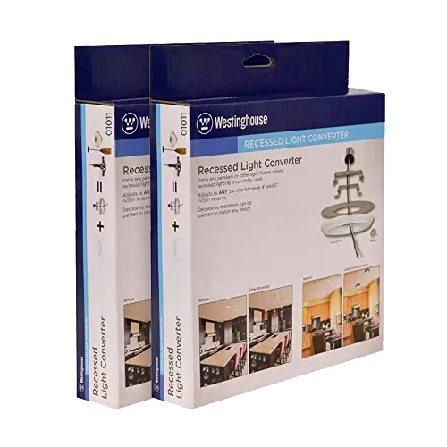 Recessed Light Converter - Finished White - 2-Pack