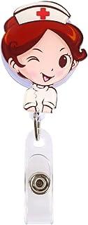 KICC Mini Badge Rétractable Enrouleur Infirmière ID Nom Carte Titulaire de la Carte Badge Fourniture Scolaire