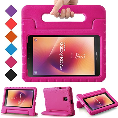 BMOUO Kids Case for Samsung Galaxy Tab A 8.0 2017 (SM-T385 / T380) - Light Weight Shockproof Protective Handle Stand Kids Case Cover for Samsung Galaxy Tab A 8.0 inch 2017 T380 T385 Tablet - Rose