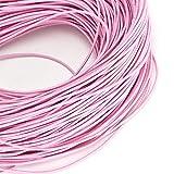 Mothinessto Cuerda Elástica De Fabricación De Bricolaje Fácil De Usar Elástica 1,5 Mm 100 M Cordón De Abalorios para Uso Profesional En Manualidades(Rosa Claro)