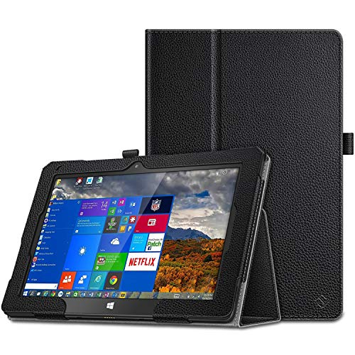 FINTIE Case for Fusion5 10.1 Windows Tablet FWIN232 PRO / FWIN232+, Premium Smart Folio Case Stand Cover with Auto Wake/Sleep Function for Fusion5 10 Inch Tablet PC, Black
