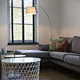 QAZQA Moderne Lampe à arc moderne en acier avec abat-jour en tissu blanc - Arc Basic/Acier Blanc,Acier Rond E27 Max. 1 x 20 Watt/Luminaire/Lumiere/Éclairage/intérieur/Salon