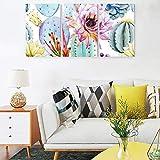 Set de 3 imágenes de plantas, cactus y póster de imágenes de pared modernas, impresión artística, pinturas para apartamento, salón, habitación, sin enmarcar, lona, blanco, 30 x 40 cm