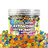 OIG Brands 20,000 Water Beads | Sensory Toys | Rainbow Mix Fine Motor Skills Toy Set | Non-Toxic Water Sensory Toy for Kids