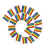 NUOBESTY 1 Pieza Bandera del Arco Iris Pancartas de LGBT Banderines de Orgullo Gay 7M