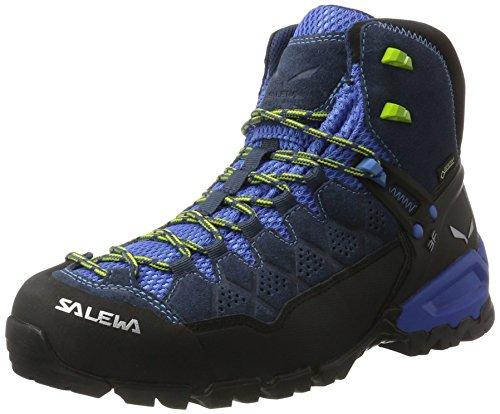 Salewa Ms Alp Trainer Mid Gtx, Herren Trekking- & Wanderstiefel, Blau (Dark Denim / Cactus 0361), 46 EU