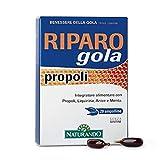 Naturando - Riparo Gola Propoli 20 Cápsulas Gelatinosas - Complemento Alimenticio Útil para la Salud de la Garganta y de la Faringe (4216)
