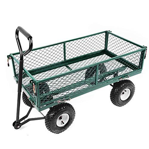 ZXL Marco de la Cama, Gran Carro de jardín Carro de Acero Carro DIY Al Aire Libre 300 kg Capacidad de Carga Transporte Pesado