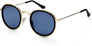 MESTIGE Women's Sunglasses Round Adalynn in Black Gold & Black