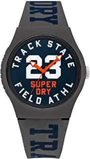 Superdry Urban Track & Field Analogue Matte Navy Dial Grey Silicon Watch For Men - SYG182UE