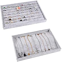 Jewellery Organiser - Stackable Jewellery Display Tray Removable Jewelry Display Storage Trays for Drawers for Earring, Ring, Necklace,watch,Bracelet