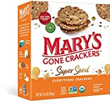 Mary's Gone Crackers Super Seed Crackers, Organic Plant Based Protein, Gluten Free, Everything, 5.5 Ounce (Pack of 1)