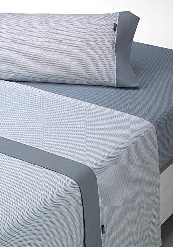 SABANALIA - Juego de sábanas Estampadas Mota (Disponible en Varios tamaños y Colores), Cama 150, Gris