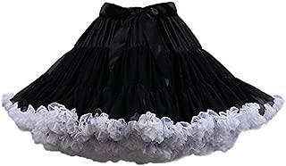 Colyanda Women's Pettiskirt 3-Layered Tutu Chiffon Petticoat Pleated Mini Skirt