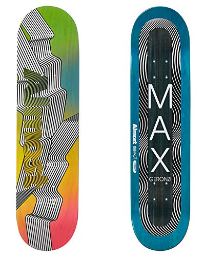 Almost Out There Impact Light Skateboard Deck 8 inch Max Geronzi