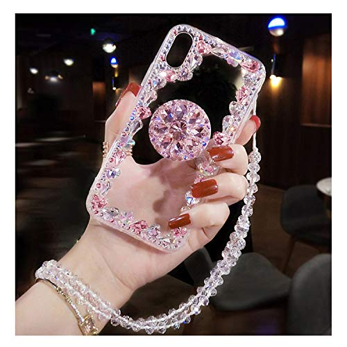 Capa For Iphone 6 7 8 Plus XR X XS MAX Case Phone Accessories With Strap Holder Back Cover Coque For Women Girl Diamond As the picture shows3 For iPhone 7 Plus